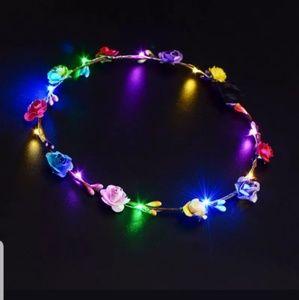 HIPPIE, FESTIVAL,LED,FLOWER HEADBAND RAVE VARIOUS